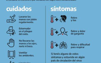 Coronavirus: Información y recomendaciones del Ministerio de Salud